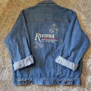 Vintage Riviera Las Vegas Oversized Jean Jacket
